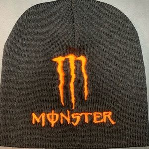 Accessories - New orange Monster Energy beanie skullcap